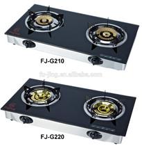 FJ-G210. FJ-G220 . FJ-G213 . FJ-G209 Tempered Glass 2 burner table top Gas Stove