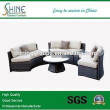 Shine Outdoor Furniture Classic Modular Woven PE Rattan KD Conversation Sofa Set SFM6-CT201413