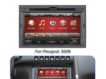 In dash Car DVD Player multimedia system car radio car GPS Navigation/Bluetooth/IPod/Radio for Peugeot 3008
