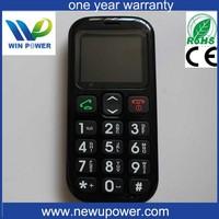 big button sim card hearing aid sos W76 mobile phone cdma senior phone