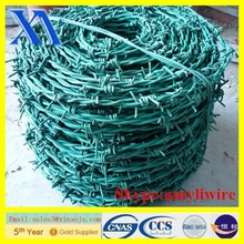 grass boundary galvanized twisted barbed wire and plastic barbed wire