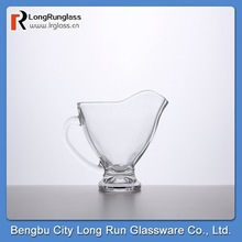 LongRun dinnerware whole sale clear footed sauce boat diswasher safe competitive price