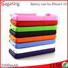 2200mah external battery case mobile phone case for iphone 5 external battery case