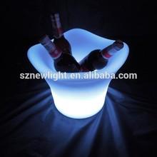 plastic material environment friendly / Plastic LED ice bucket / LED lightweight ice bucket