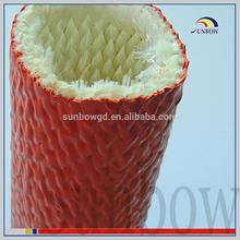 fiberglass material and high temperature application silicone glass fibre sleeve