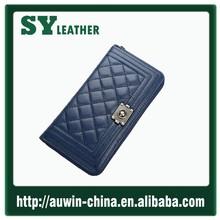 2015 Fashion women clutch long wallet lady purse Sheepskin real leather bag