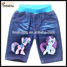 High quality My little pony leisure Children's Pants& legging pants summer girls short jeans