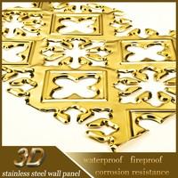 Stainless Steel Design Modern 3D Suspended Mirror Ceiling Tiles