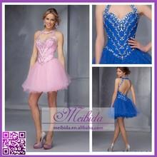 Синий спинки коктейльное платье цвета