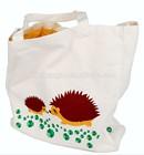 Eco-friendly natural cotton two layers kids bag cartoon bag AZO free