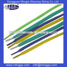 2015 Polyester woven, shoe strings,sport shoe lace,colorful plain flat shoe laces wholesale