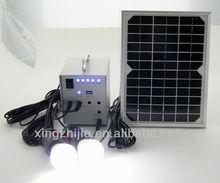 indoor solar lighting generator system, portable solar dc generator for lighting and mobile charging