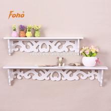 European carved pattern diy wall shelf decor for living room FH-BL003