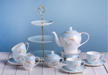 Lovely Bird Porcelain 15PCS Tea Set