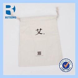 cheap promotional custom drawstring cotton bag