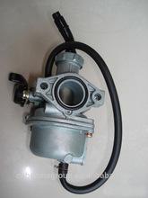 20mm carburetor,PZ20 motorcycle carburetor,Flat suction vacuum film plunger carburetor