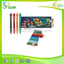 Fancy portable roundtube multi functional ink pens