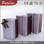 Brown recycled cardboard gift boxes
