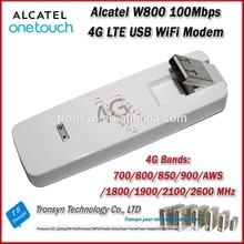 New Arrival Original Unlock LTE FDD 100Mbps Alcatel W800 USB 4G Modem WiFi Router