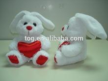 Saint valentin belle cadeau rouge coeur en peluche lapin jouet
