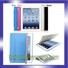 Stand Case Hard shell Multi- colors Leather Smart Cover for iPad