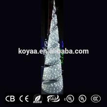 large led crystal white christmas lights with white decoration light