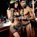 Chers fête de carnaval pour adultes costumes couple l'armée. usa transparent
