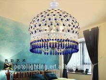Turkish modern black glass chandelier for Stair Way