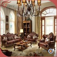 Turkish sofa furniture, genuine leather sofa A89