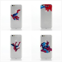 Transparent Color Back Cover Case Super Man Logo Plastic PC Hard Shell Case Patterns For Iphone 6 6G 4.7'' Inch