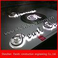 nome da empresa com logotipo led backlit publicidade metal escovado assinar cartas