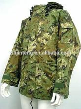 woodland digital multi camouflage waterproof military expedition Italian parka jacket