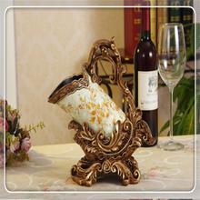 alibaba express European Villa Gold-plating Bottle Elegant Resin Red Wine Rack