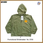 CHILDRENS AND ADULTS COLORFUL PROMOTIONAL WINDBREAKER, PRINT AND EMBROIDERED WINDBREAKER