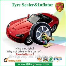 One step slime tire sealant