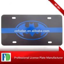 BLUE License Plate BATMAN Patrol Car BatMOBILE Gotham City Police SWAT,pvc number plates