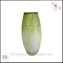 wholesale home decoration sandblasting glass vase