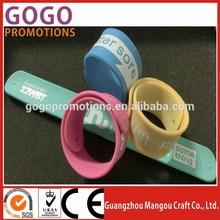 Slap snap on bracelets band wristband party favors novelty,professional supply silicone slap wristband factory good price
