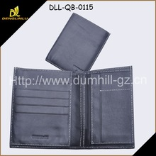 Bi fold Slim Genuine Euro Leather Men's Wallets with photo pocket