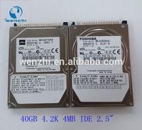 """40GB 2.5"""" 4.2K 4M IDE HDD Hard Disk scrap hard disk"""