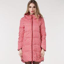 MS61660W long winter coats polka dots pattern women winter coats