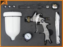 SAT1215B-K simple use and chrome paint sprayer dual heads spray gun