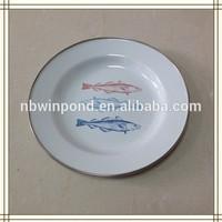 Carbon steel enamel camping plates enamelware wholesale