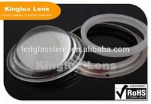 100mm LED focusing optical glass lens 60degree high power 20w-200w projector lens light