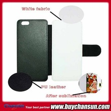 Factory price super quality blank sublimation leather case for iphone 6,for iphone 6 sublimation case