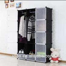 15 cubes wardrobes black storage shelves organizers for closet shelves (FH-AL0039-12)