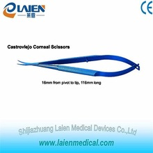 High quality castroviejo corneal scissors micro ophthalmic surgical instrument with CE certificated