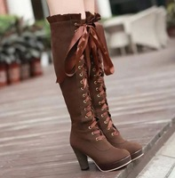HFR-T807 Lace up Women 2014 fashion ladies winter boots lady boot