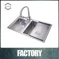 moderna cocina fregaderos de acero inoxidable