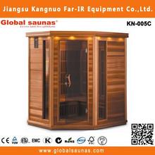 infrared panel heater on corner infrared sauna room surface